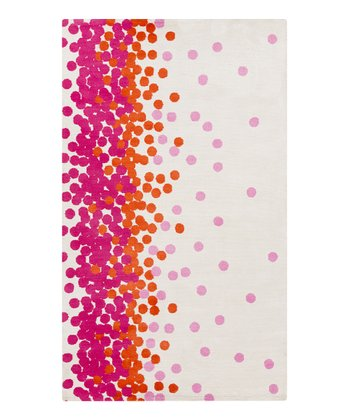 Red & Pink Scatter Abigail Rug