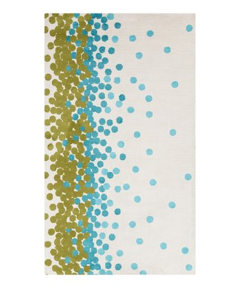 Green & Blue Scatter Abigail Rug