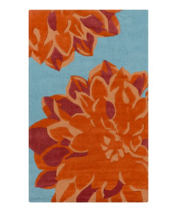 Orange & Red Budding Rug