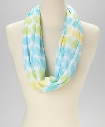 Blue & Yellow Heart Infinity Scarf