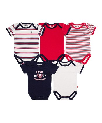 Navy & Red Bodysuit Set - Infant