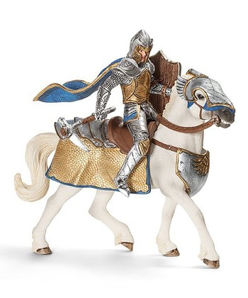 Griffin Knight & Horse Figurine Set