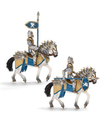 Griffin Knight with Lance & Horse Figurine Set