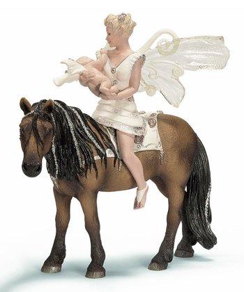 Horseback Iloris & Leolynn Figurine Set