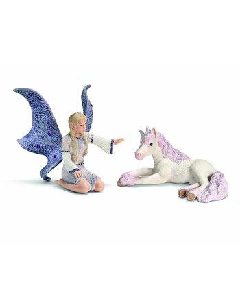 Lindariel & Unicorn Foal Figurine Set