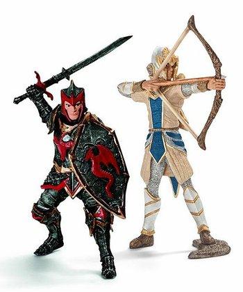 Dragon & Griffin Knight Figurine Set