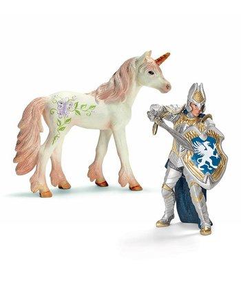 Griffin Knight & Unicorn Foal Figurine Set