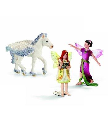 Elf & Pegasus Foal Figurine Set