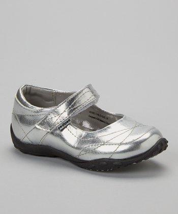 pediped Silver Metallic Bianca Mary Jane