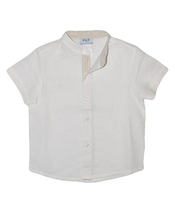 White Button-Up - Toddler & Boys