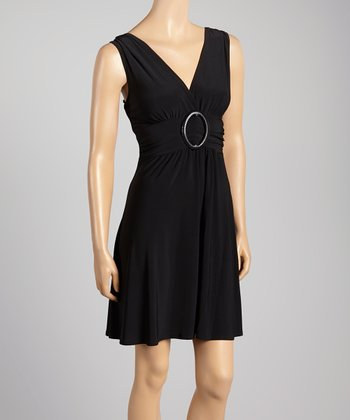 Black Banded Dress - Women