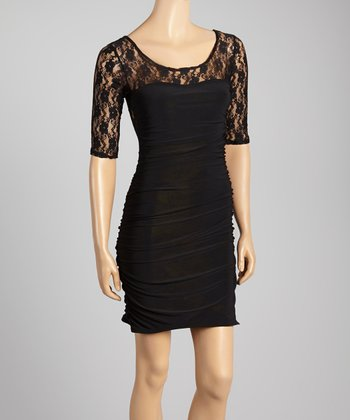Black Lace Dress - Women