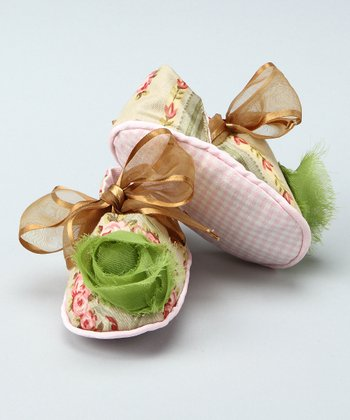 Gold Bow Booties - Infant