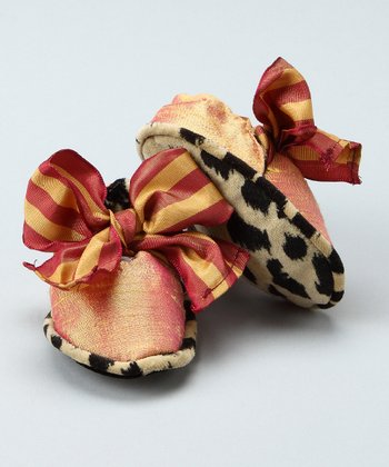 Cheetah Bow Booties - Infant