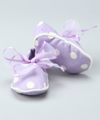 Lilac Bow Booties - Infant