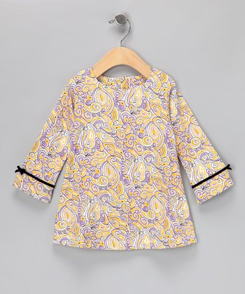 Yellow Paisley Dress