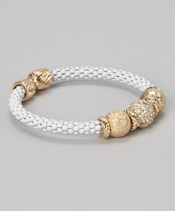 Gold & White Sparkle Bangle