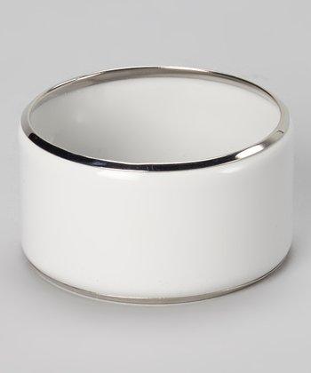Silver & White Bangle