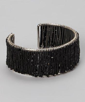 Black Bead Cuff