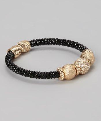 Gold & Black Sparkle Bangle