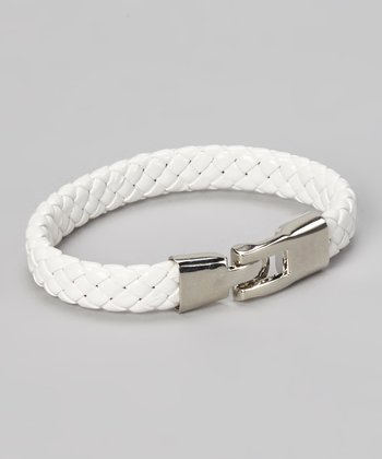 White Braided Bracelet