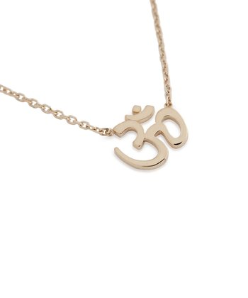 Rose Gold Om Pendant Necklace