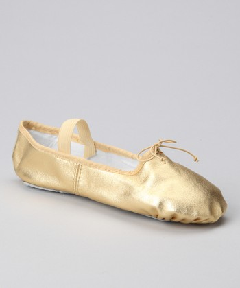 Gold Ballet Slipper