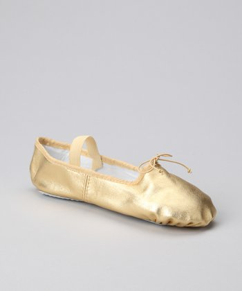 Gold Metallic Ballet Slipper