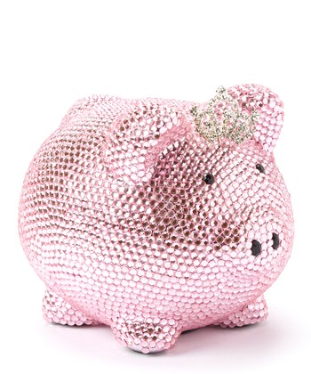 Pink Crystal Princess Piggy Bank
