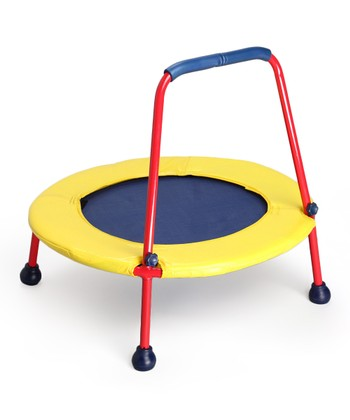 Blue & Yellow Busy Bouncer Trampoline