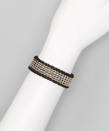 Black Layered Chain Bracelet