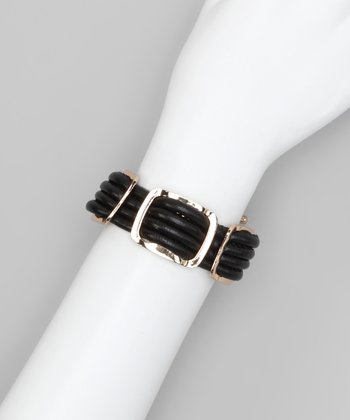 Black Gold Square Bracelet