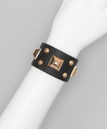 Black Square Stud Cuff