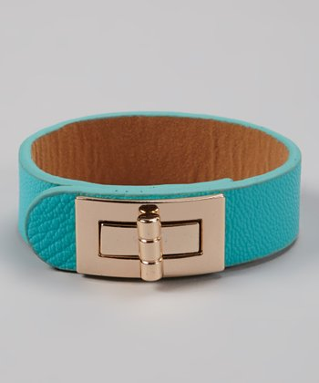Mint & Gold Buckle Bracelet