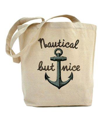 Beige 'Nautical But Nice' Tote