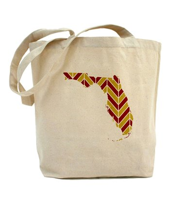 Red & Gold Zigzag Florida Tote