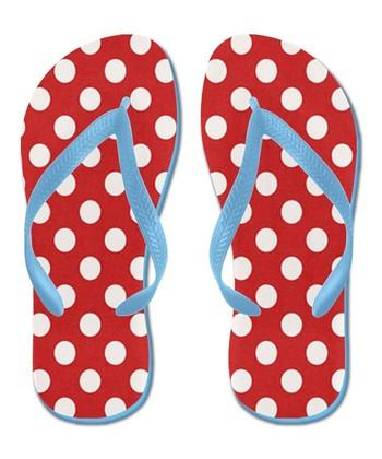 Red Polka Dot Flip-Flop