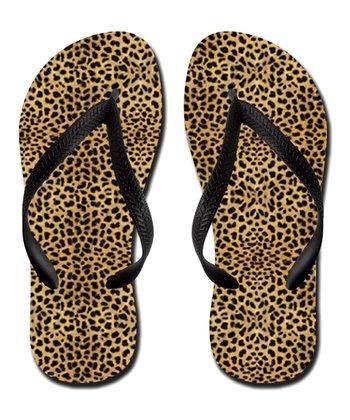 Brown Cheetah Flip-Flop