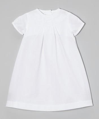 White Smocked Dress - Infant