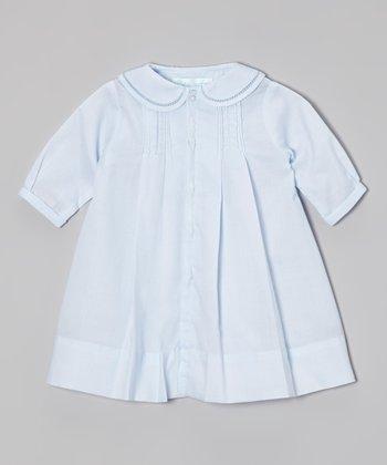 Blue Smocked Collar Dress - Infant