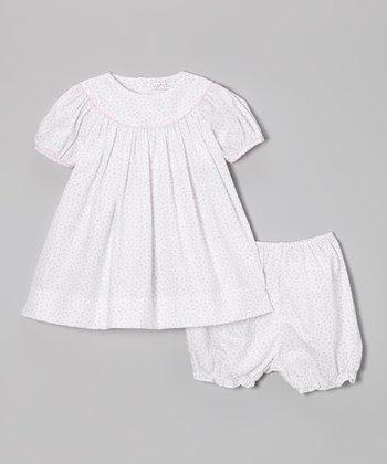 Lavender Floral Yoke Dress & Bloomers - Infant