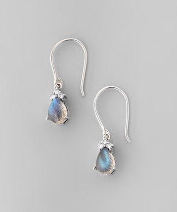 Labradorite & Sparkle Teardrop Earrings