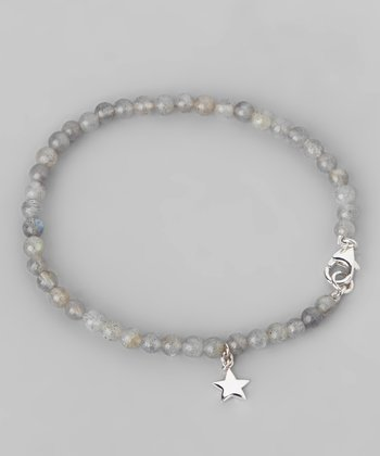 Lapis & Sterling Silver Star Bead Bracelet