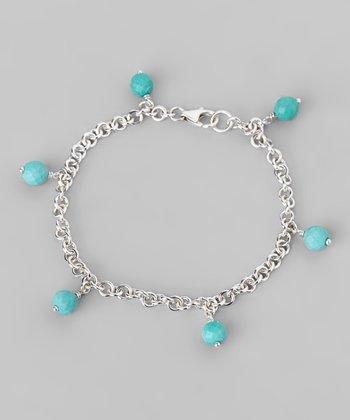 Turquoise & Sterling Silver Link Bracelet