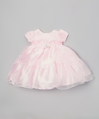 Pink Tiered Dress - Infant, Toddler & Girls