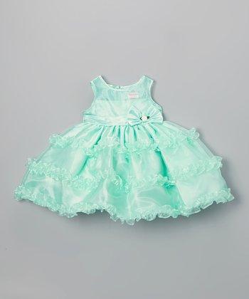 Green Ruffle Dress - Infant, Toddler & Girls