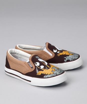 Brown Pirate Slip-On Sneaker