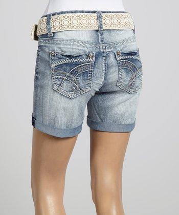 Wall Flower Summer Belted Curvy Shorts