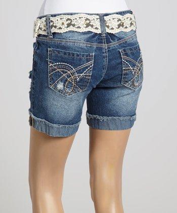 Wall Flower Buffalo Blue Belt Shorts