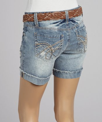 Wall Flower Summer Braided Belt Shorts